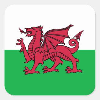 Le Pays de Galles - le drapeau de Gallois Sticker Carré
