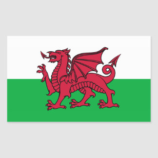Le Pays de Galles - le drapeau de Gallois Sticker Rectangulaire