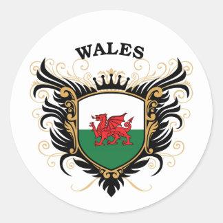 Le Pays de Galles Sticker Rond