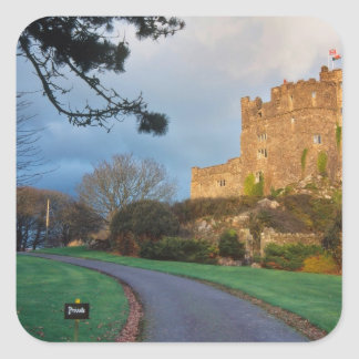 Le Pays de Galles - un château privé de gallois Sticker Carré