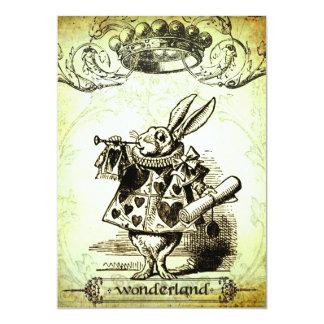 Le pays des merveilles carton d'invitation  12,7 cm x 17,78 cm