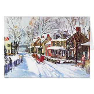 Le pays des merveilles d'hiver carte de vœux