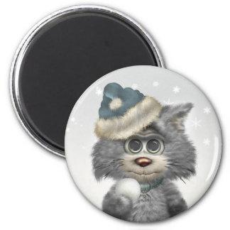 Le pays des merveilles d'hiver de chats de Kitty Aimant