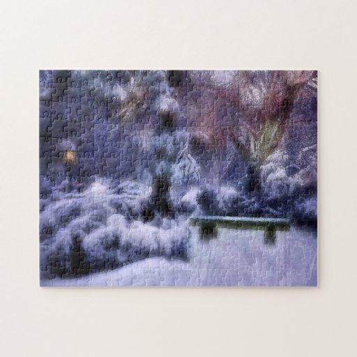 Le pays des merveilles d'hiver de forêt de Milou Puzzles Avec Photo