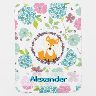 le pays mignon de renard fleurit la couverture couvertures pour bébé
