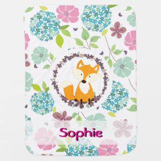 le pays mignon de renard fleurit la couverture couverture de bébé