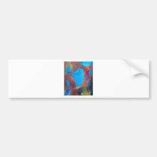 Le paysage choisi (peinture de paysage abstraite autocollant pour voiture
