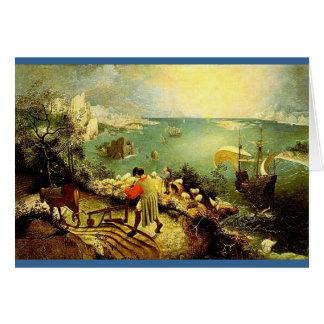 Le paysage de Bruegel avec l'automne d'Icare - Carte De Vœux