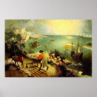 Le paysage de Bruegel avec l'automne d'Icare - Posters