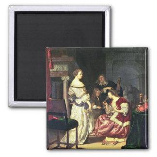 Le peintre avec sa famille, 1675 (huile sur le pan aimants pour réfrigérateur
