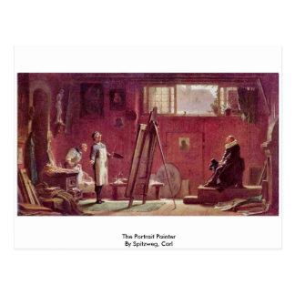 Le peintre de portrait par Spitzweg, Karl Cartes Postales