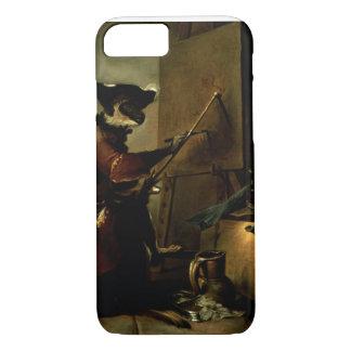 Le peintre de singe, 1740 (huile sur la toile) coque iPhone 8/7