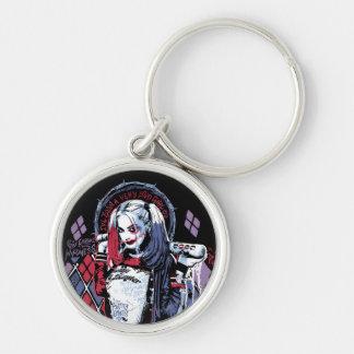 Le peloton de suicide | Harley Quinn a encré le Porte-clé Rond Argenté
