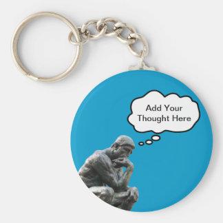 Le penseur de Rodin - ajoutez votre pensée faite Porte-clés