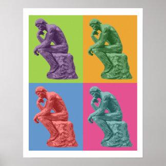 Le penseur de Rodin - art de bruit Posters