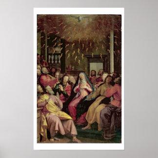 Le Pentecost, c.1598 (huile sur le panneau) Poster