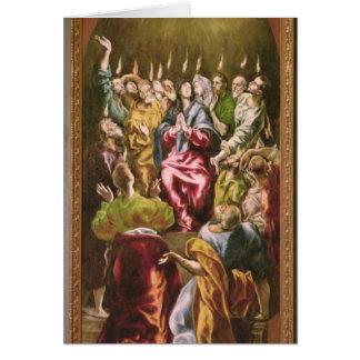 Le Pentecost, c.1604-14 Carte De Vœux