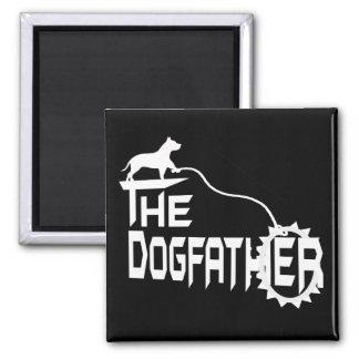 Le père de chien magnet carré