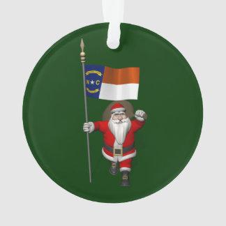 Le père noël avec le drapeau de la Caroline du