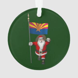 Le père noël avec le drapeau de l'Arizona