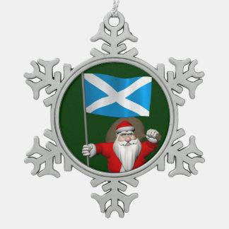 Le père noël avec le drapeau de l'Ecosse Décoration De Noël