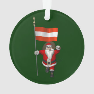 Le père noël avec le drapeau d'Österreich