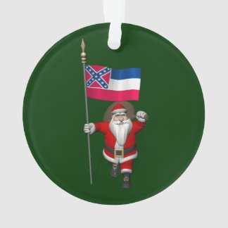 Le père noël avec le drapeau du Mississippi