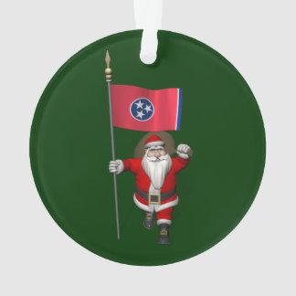Le père noël avec le drapeau du Tennessee