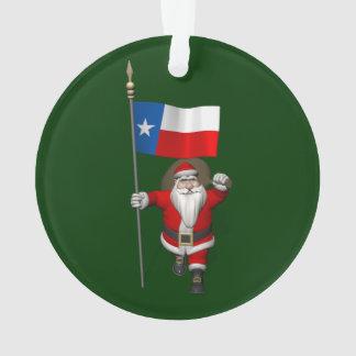 Le père noël avec le drapeau du Texas