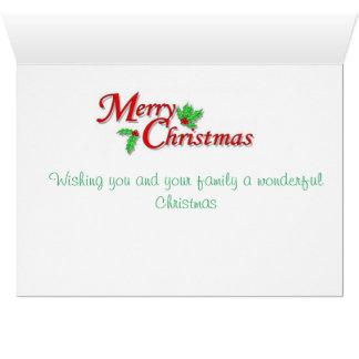 Le père noël et sa carte de Noël de furets