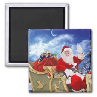 Le père noël et son aimant de Noël de furets
