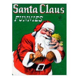 Le père noël Funnies - ange Carte Postale