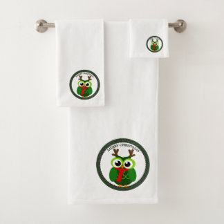 Le père noël tout le hibou vert de Noël