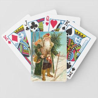 Le père noël victorien jeu de cartes poker