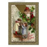 Le père noël victorien vintage cartes de vœux