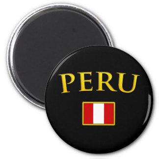 Le Pérou d'or Magnet Rond 8 Cm