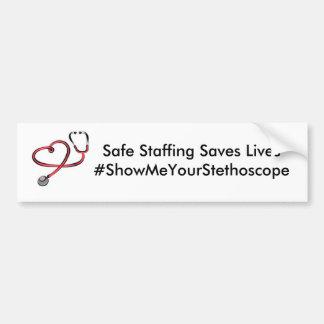 Le personnel sûr sauve les vies - SMYS Autocollant De Voiture