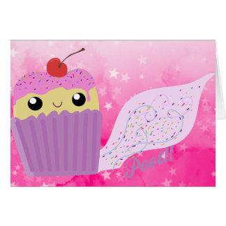 Le pet de petits gâteaux arrose carte de vœux