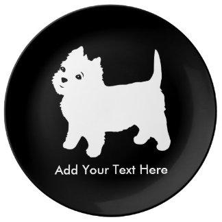Le petit chien de Westie le plus mignon - Assiette En Porcelaine