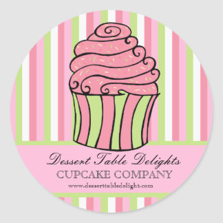 Le petit gâteau barre le site Web de la publicité Adhésif Rond