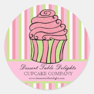 Le petit gâteau barre le site Web de la publicité Sticker Rond