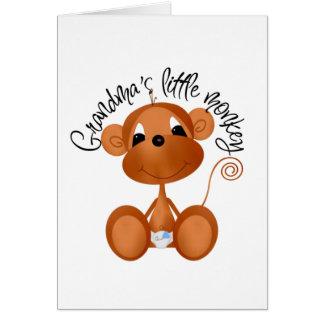 Le petit singe de la grand-maman - T-shirts et Carte De Vœux