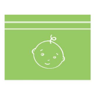 le petit visage de bébé le plus mignon carte postale