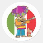 Le peu de Mexique Sticker Rond