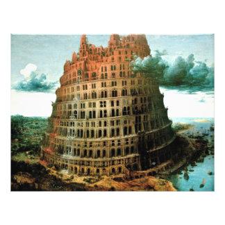 """Le """"peu"""" de Pieter Bruegel tour de Babel Prospectus 21,6 Cm X 24,94 Cm"""