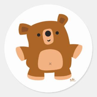 Le peu d'ours sticker rond