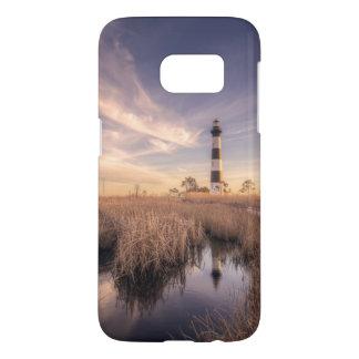 Le phare d'île de Bodie au coucher du soleil Coque Samsung Galaxy S7