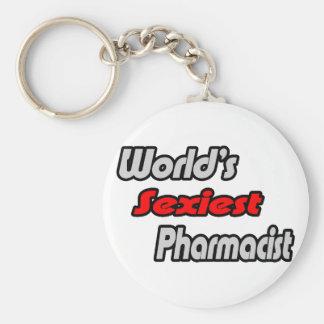 Le pharmacien le plus sexy du monde porte-clé rond