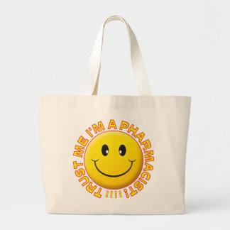 Le pharmacien me font confiance souriant sac en toile jumbo