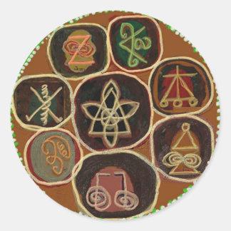 Le PHOQUE de GUÉRISSENT :  Emblème de Karuna Reiki Sticker Rond